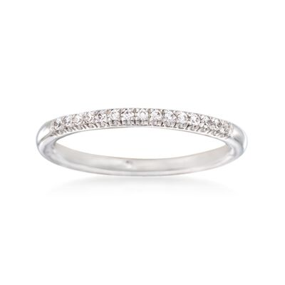 Gabriel Designs .10 ct. t.w. Diamond Wedding Ring in 14kt White Gold