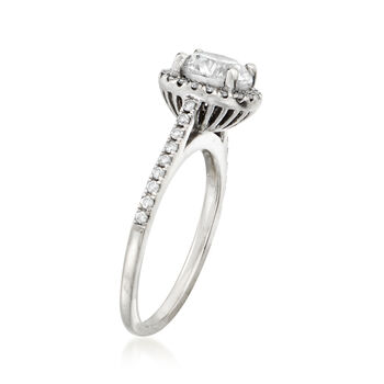 C. 2000 Vintage 1.30 ct. t.w. Diamond Halo Ring in 18kt White Gold. Size 7