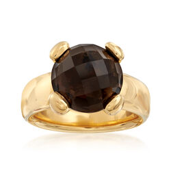 Italian Andiamo 14kt Yellow Gold With 1.00 ct. t.w. Smoky Quartz Ring, , default