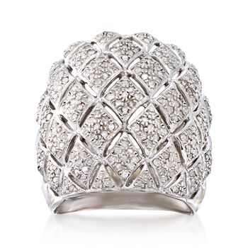 1.00 ct. t.w. Diamond Wide Band Kite-Shaped Ring, , default