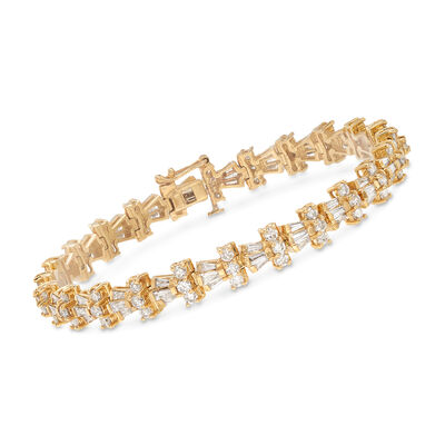 6.00 ct. t.w. Diamond Bracelet in 14kt Yellow Gold, , default