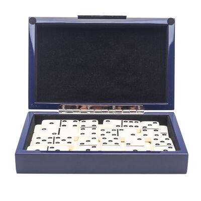 Brouk & Co. Blue Lacquer Dominos Set