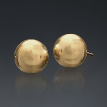 8mm 14kt Yellow Gold Ball Stud Earrings, , default