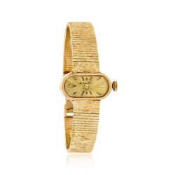 C. 1960 Vintage Tissot Women's 20mm Manual 14kt Yellow Gold Watch. Size 5.5, , default