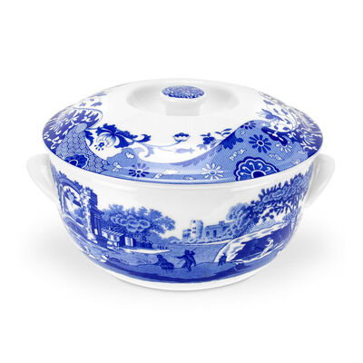 "Spode ""Blue Italian"" Round Covered Deep Dish"