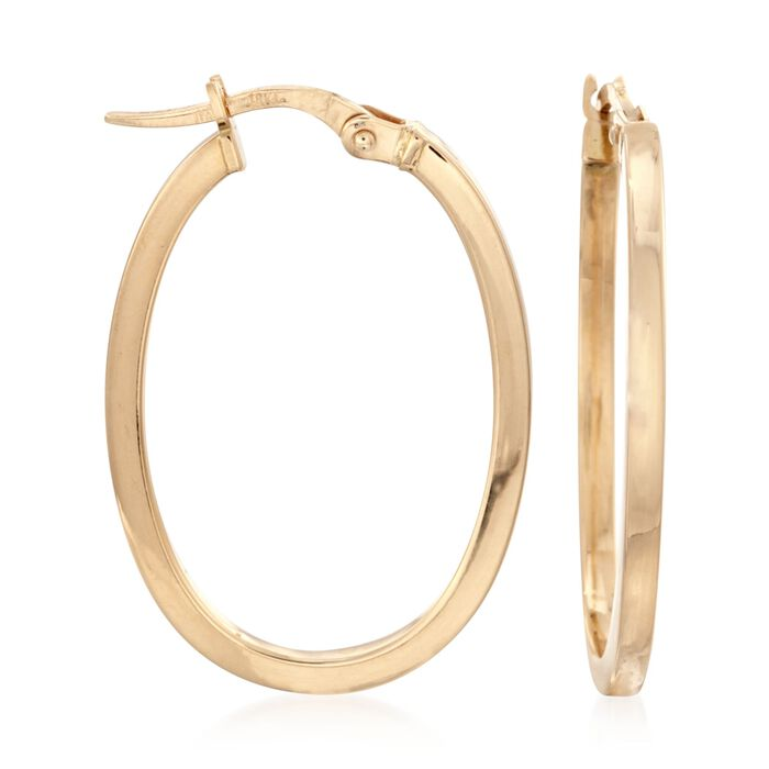 Roberto Coin 18kt Yellow Gold Small Oval Hoop Earrings