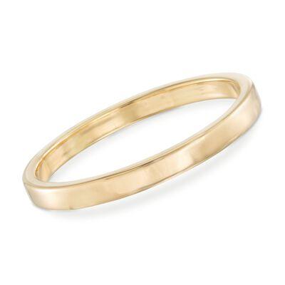 Italian Andiamo 14kt Yellow Gold Squared-Edge Bangle Bracelet, , default