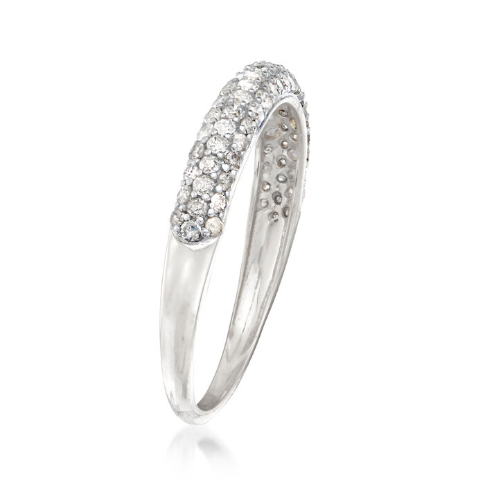 .50 ct. t.w. Pave Diamond Ring in 14kt White Gold