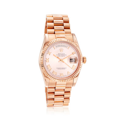 Pre-Owned Rolex Day-Date Men's 36mm Automatic 18kt Rose Gold Watch, , default