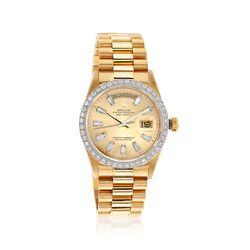 C. 1985 Vintage Rolex Day-Date Men's 36mm 1.85 ct. t.w. Diamond Watch in 18kt Gold. Size 8, , default