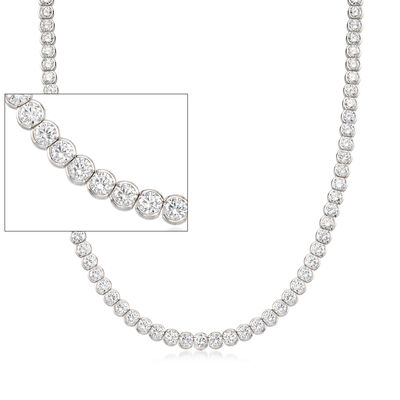 41.85 ct. t.w. CZ Necklace in Sterling Silver with Magnetic Clasp, , default