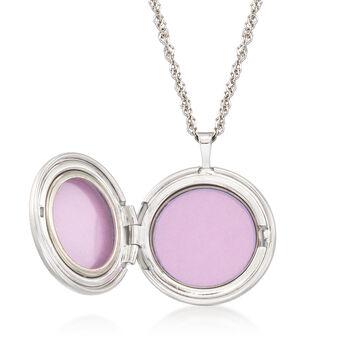 Sterling Silver Adjustable Sun Locket Pendant Necklace, , default