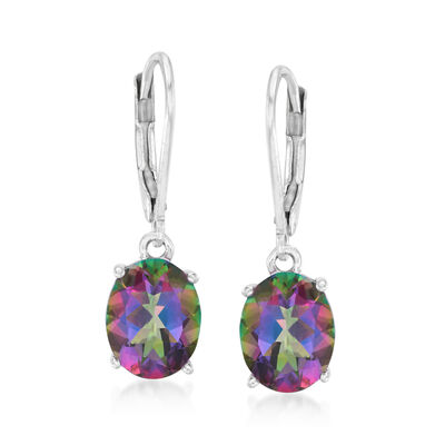 5.00 ct. t.w. Mystic Topaz Drop Earrings in Sterling Silver