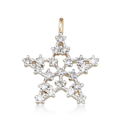 .33 ct. t.w. Diamond Star Pendant in 14kt Yellow Gold, , default