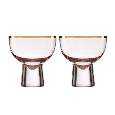 Trianna Blush 2-Piece Pink Cocktail Glassware Set, , default