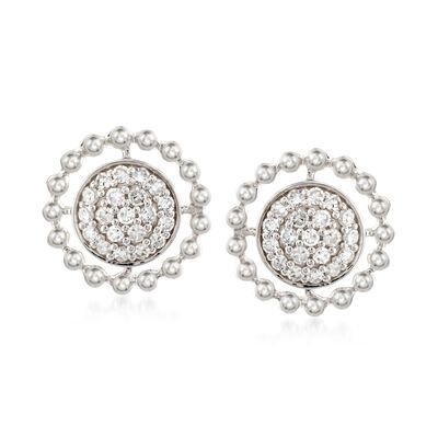 .27 ct. t.w. Diamond Circle Earrings in 14kt White Gold, , default