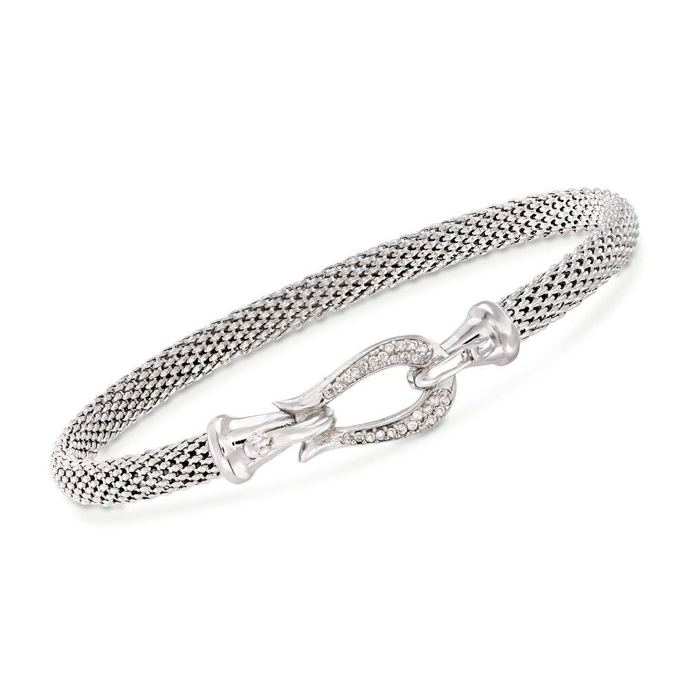 Phillip Gavriel Popcorn 13 Ct T W Diamond Horseshoe Hook Bracelet In