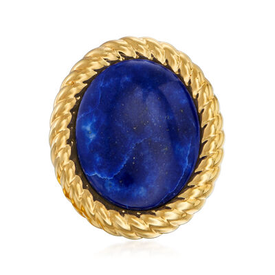 Italian Andiamo Lapis Ring in 14kt Yellow Gold