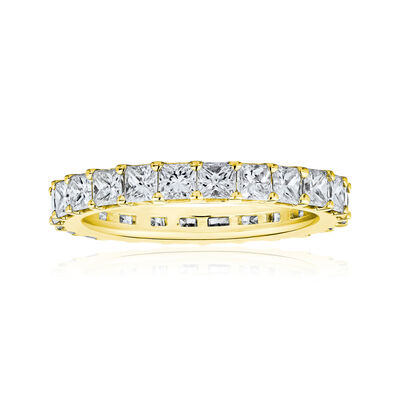 3.80 ct. t.w. Princess-Cut Diamond Eternity Band in 14kt Yellow Gold, , default