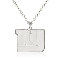 "Sterling Silver NFL New York Giants Pendant Necklace. 18"", , default"