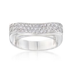 C. 1990 Vintage 1.05 ct. t.w. Pave Diamond Ring in 18kt White Gold, , default