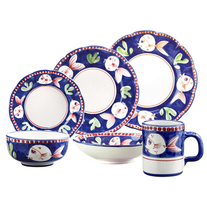 "Vietri ""Champagna Pesce"" Dinnerware from Italy, , default"