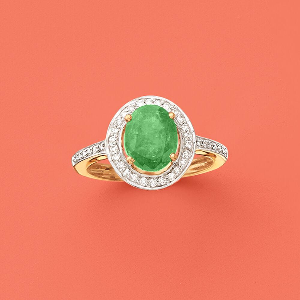 1 80 Carat Zambian Emerald And 25 Ct T W Diamond Halo