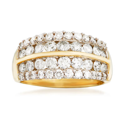 1.50 ct. t.w. Diamond Multi-Row Wedding Ring in 14kt Yellow Gold, , default