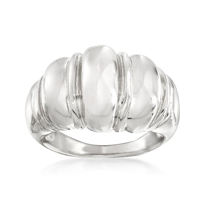Italian Sterling Silver Shrimp Ring