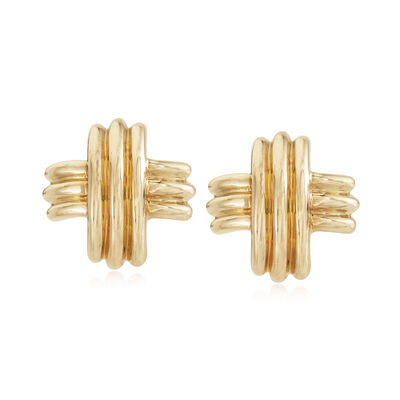 C. 1990 Vintage Tiffany Jewelry Post Earrings in 18kt Yellow Gold, , default