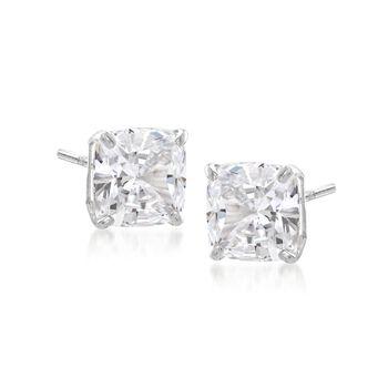 2.00 ct. t.w. Cushion-Cut CZ Stud Earrings in Sterling Silver , , default