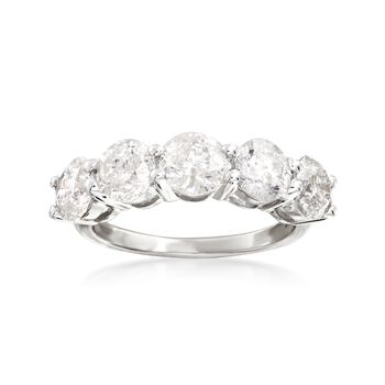 3.00 ct. t.w. Diamond Five-Stone Ring in 14kt White Gold, , default