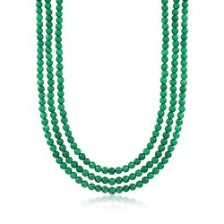 "6mm Green Onyx Bead Endless Necklace. 80"", , default"