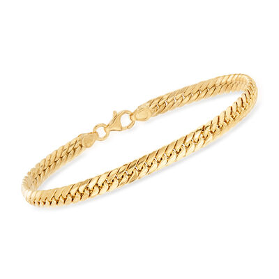 Italian 14kt Yellow Gold Cuban-Link Bracelet, , default