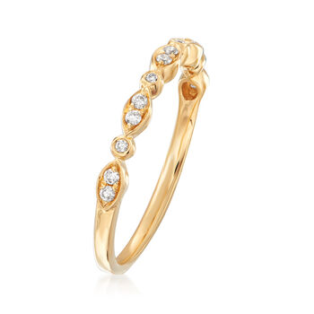 Henri Daussi .11 ct. t.w. Diamond Wedding Ring in 18kt Yellow Gold