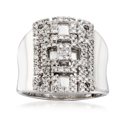 .74 ct. t.w. Diamond Geometric Ring in 14kt White Gold, , default