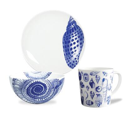 "Caskata ""Blue Shells"" Blue and White Porcelain Dinnerware    , , default"