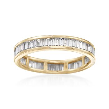 1.00 ct. t.w. Baguette Diamond Eternity Band in 14kt Yellow Gold, , default