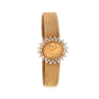 C. 1980 Vintage Baume & Mercier Women's 28mm 1.60 ct. t.w. Diamond Watch in 18kt Yellow Gold, , default