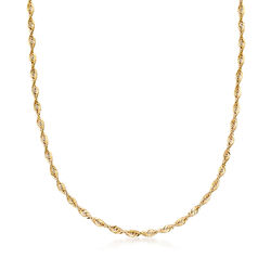 Italian 14kt Yellow Gold Rope Chain, , default
