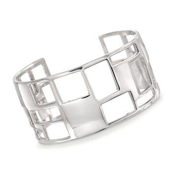 "Zina Sterling Silver ""Windows"" Cuff Bracelet. 7"", , default"