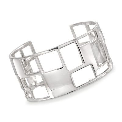 "Zina Sterling Silver ""Windows"" Cuff Bracelet, , default"