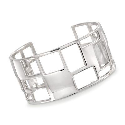 "Zina Sterling Silver ""Windows"" Cuff Bracelet, , default"