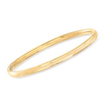 "Italian 18kt Yellow Gold Bangle Bracelet. 7.5"", , default"