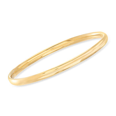 Italian 18kt Yellow Gold Bangle Bracelet, , default