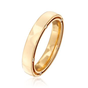 C. 2010 Vintage Damiani and Brad Pitt 18kt Yellow Gold Ring with .15 ct. t.w. Diamonds. Size 7.5, , default