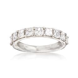 2.00 ct. t.w. Asscher-Cut Diamond Wedding Band in Platinum, , default