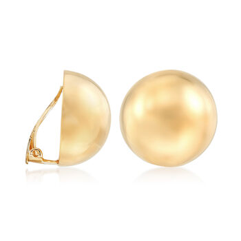 Italian 20mm 18kt Gold Over Sterling Dome Clip-On Earrings, , default