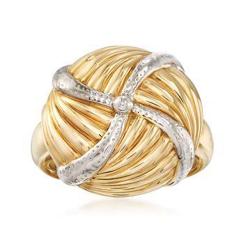 14kt Yellow Gold Ribbed Pinwheel Ring, , default