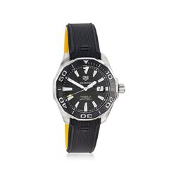 TAG Heuer Aquaracer Men's 43mm Stainless Steel Watch With Black Rubber Strap , , default